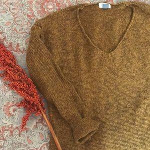 Oversized knit sweater.